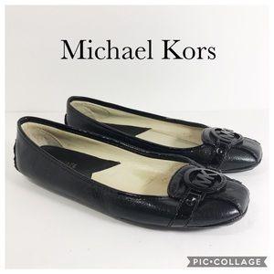Michael Michael Kors black flats driving shoes 8.5